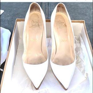 CristianLouboutin white shoes
